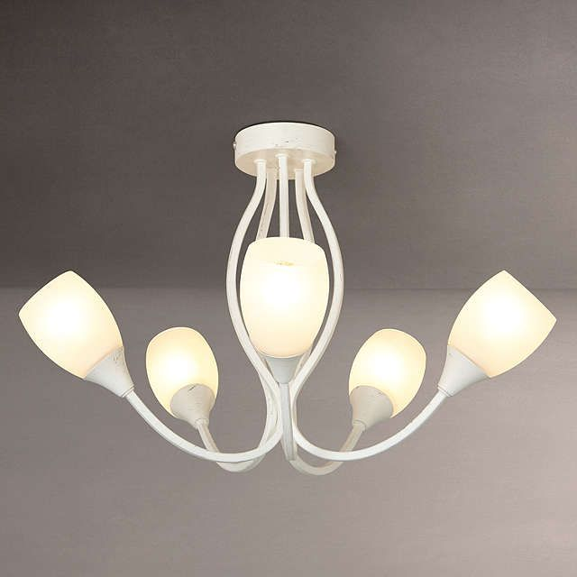BuyJohn Lewis Mirage 5 Arm Ceiling Light Distressed Ivory Online At Johnlewis