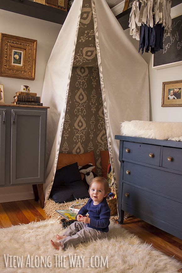 Reading corner and changing table