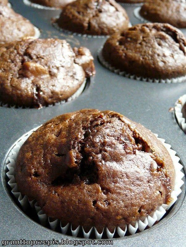 GRUNT TO PRZEPIS!: Muffinki czekoladowe z bananem