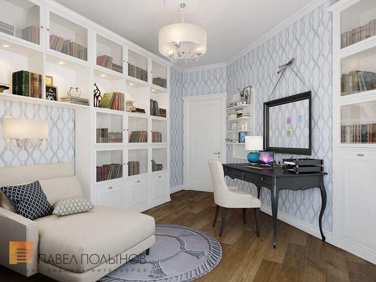Фото: Кабинет - Двухуровневая квартира в неоклассическом стиле, ЖК «Жилой дом на Пионерской», 208 кв.м.