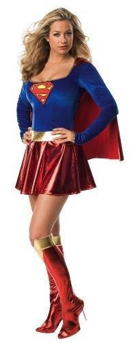 Secret Wishes Sexy Supergirl Costume Red S (4/6)