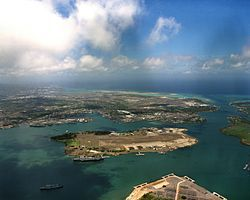 HAWAII - Pearl Harbor - Much of the harbor and surrounding lands is a United States Navy deep-water naval base.