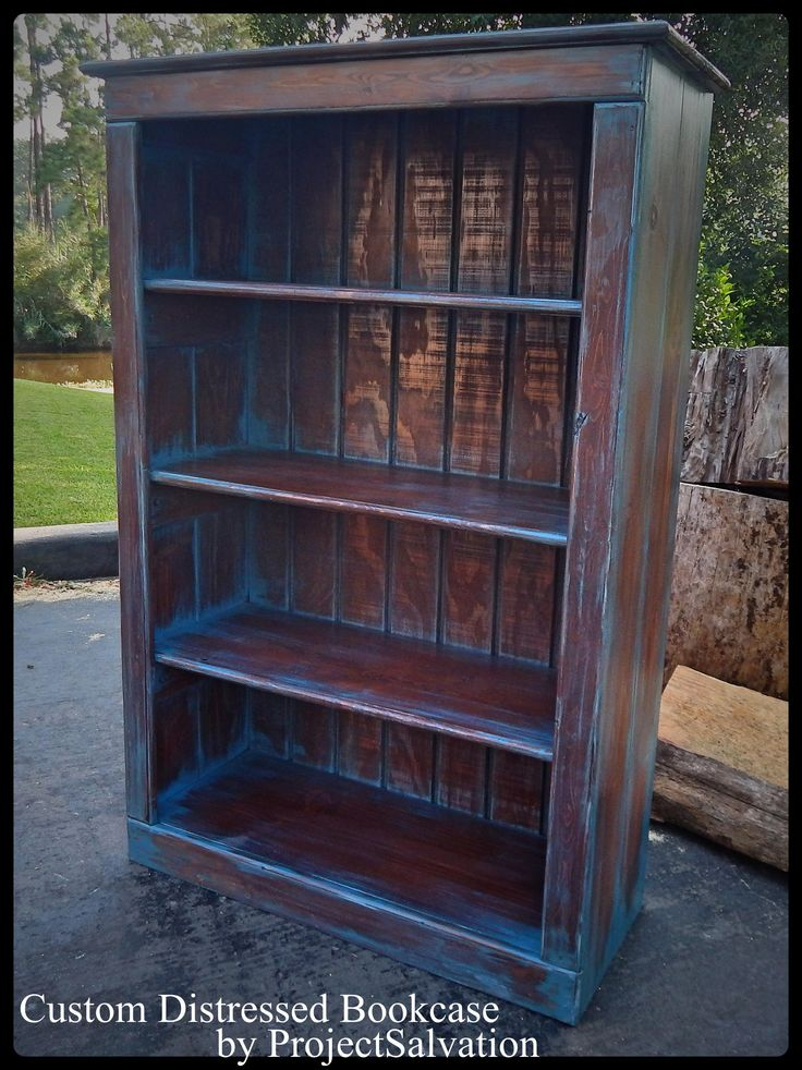 """This is a custom bookcase we made for a client to her specifications. We can design a the same bookcase or a similar one based on your specific preferences. DIMENSIONS: 49"""" (Length) x 31"""" (Width) x 12"""" (Depth). - See more at: http://supermarkethq.com/product/reclaimed-wood-custom-bookcase#sthash.dCNBQZCt.dpuf"""