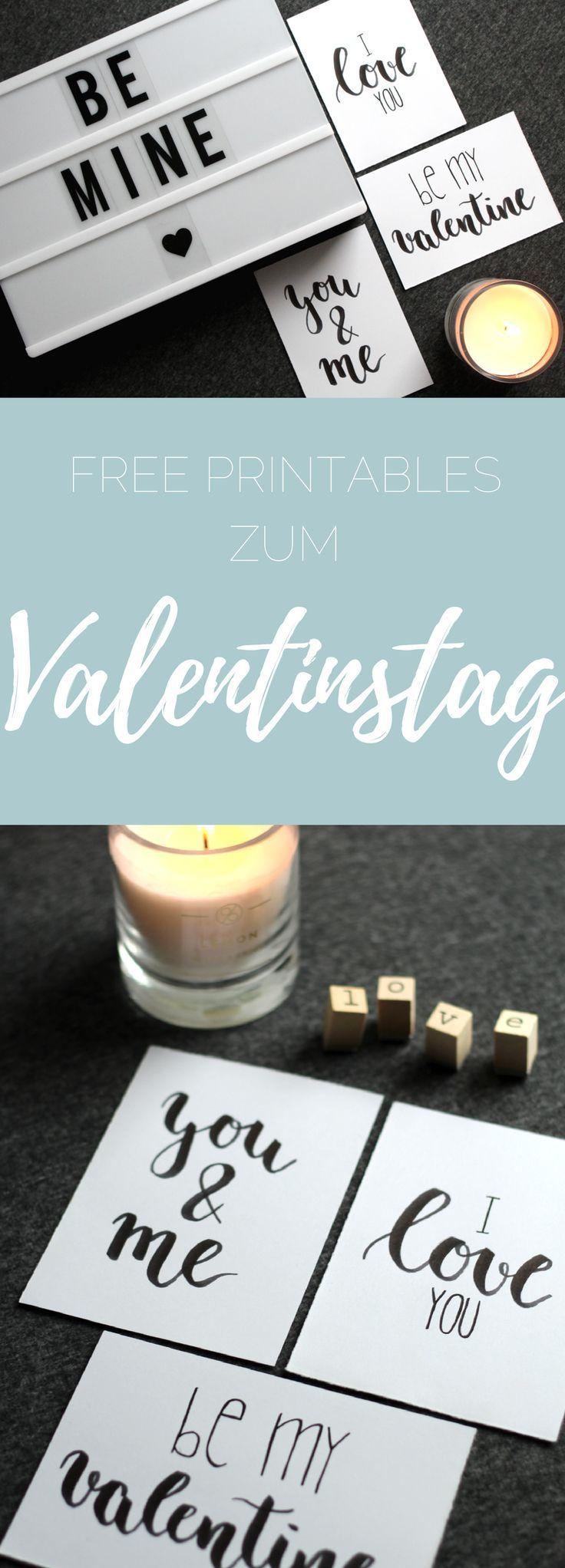 {handlettering} Kostenlose Printables zum Valentinstag für Karten, Poster und mehr – Personello – DIY Ideen: Geschenke, Deko, Basteln & Selbermachen