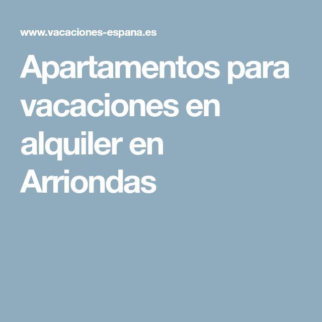 Apartamentos para vacaciones en alquiler en Arriondas