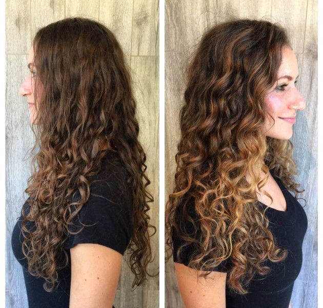 Balayage on curly hair More
