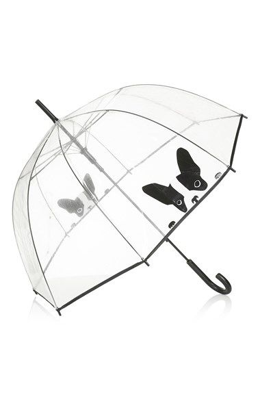 "Free shipping and returns on Topshop 'Dog' Umbrella (Brit Pop-In) at Nordstrom.com. <p><B STYLE=""COLOR:#990000"">Pre-order this style today! Add to Shopping Bag to view approximate ship date. You'll be charged only when your item ships.</b></p><br>When ruff rains are ahead, shield yourself with this clear dome umbrella printed with perky pooches."