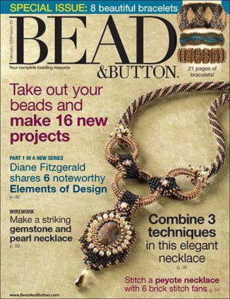 089 Bead & Button Magazine, 2009 February, #89 (Used) at Sova-Enterprises.com