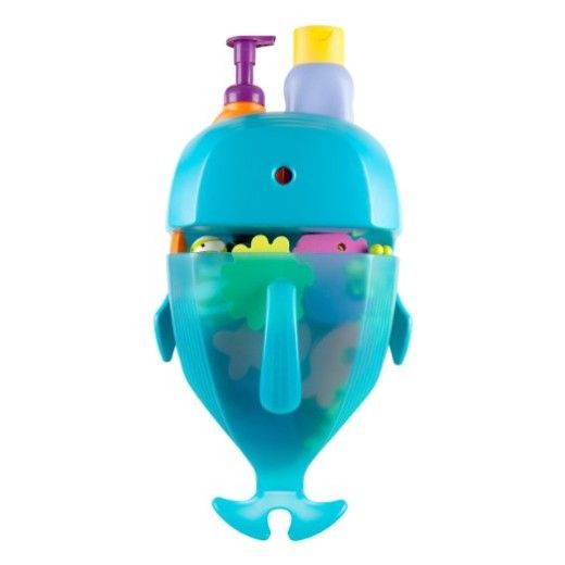 Boon Whale Pod Drain and Storage Bath Toy Scoop, Blue