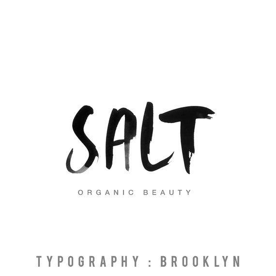 Handwritten brush lettering blog logo design, blog header