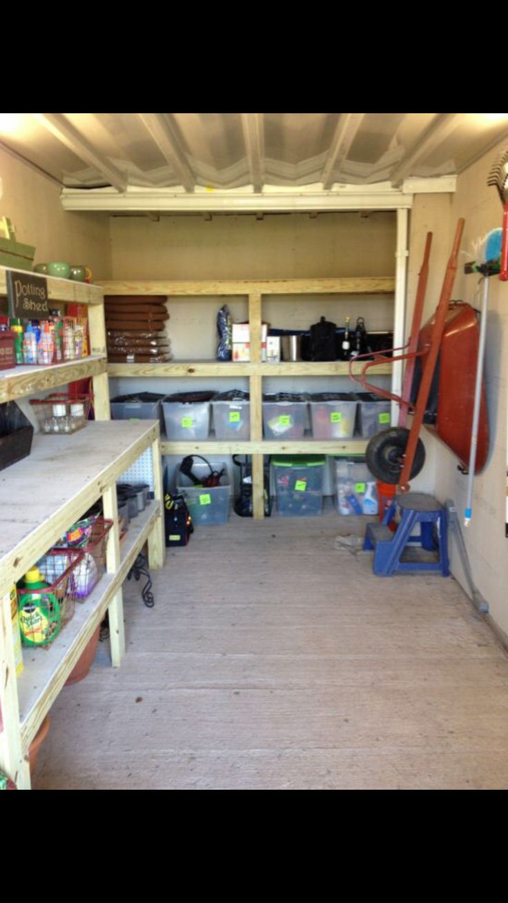 outdoor shed organization