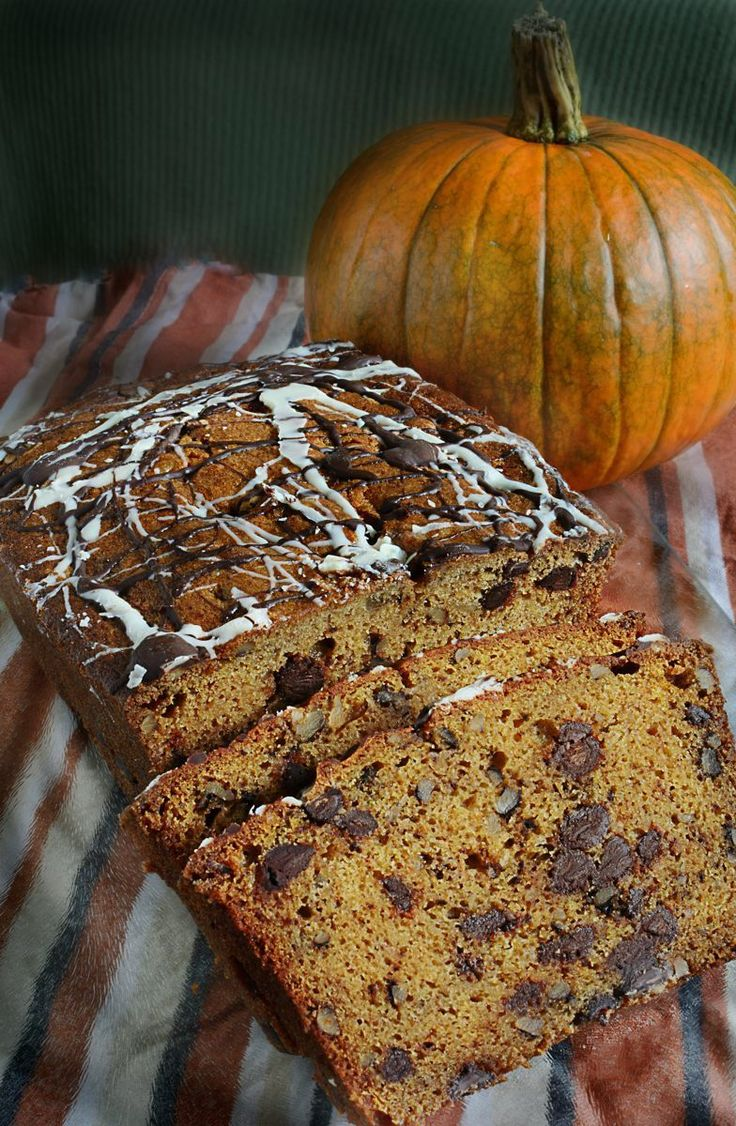 Pumpkin Chocolate Chip Loaf...here's the link to find this moist, delicious treat. http://oracibo.com/recipe/pumpkin-chocolate-chip-loaf/