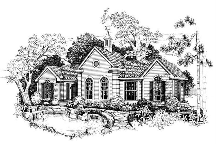 Main image for small house plan # 18872 Perfect 1 bed guest house