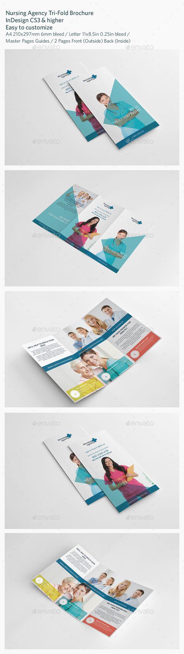 Nursing Agency Trifold Brochure Template #design Download: http://graphicriver.net/item/nursing-agency-trifold-brochure/13436739?ref=ksioks