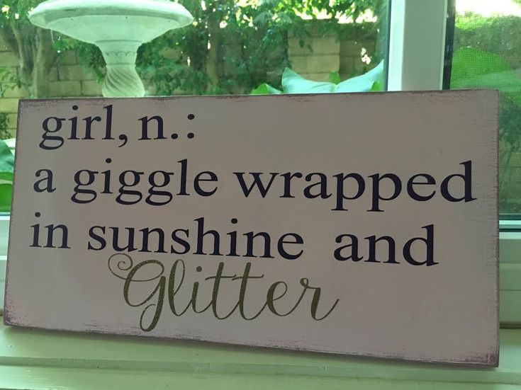 Nursery Decor,Girl Definition-a giggle wrapped in sunshine and glitter,Girls nursery,Girl Wall Art, Girls Room,Baby Shower,Baby Shower Gift by SplendidExpressions on Etsy