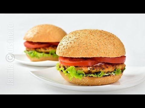 Burger de somon pas cu pas - reteta video   JamilaCuisine