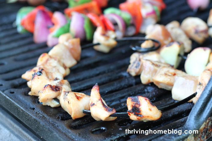 Garlic honey chicken kabob marinade - put the chicken in the marinade and freeze to cook later.