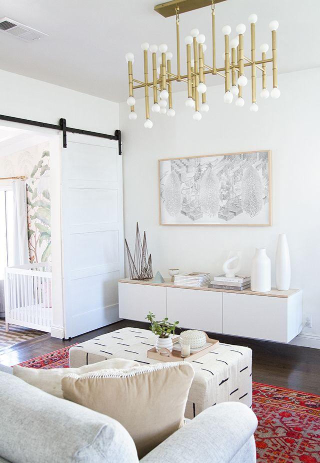 sarah sherman samuel living room makeover Ottoman Pinterest