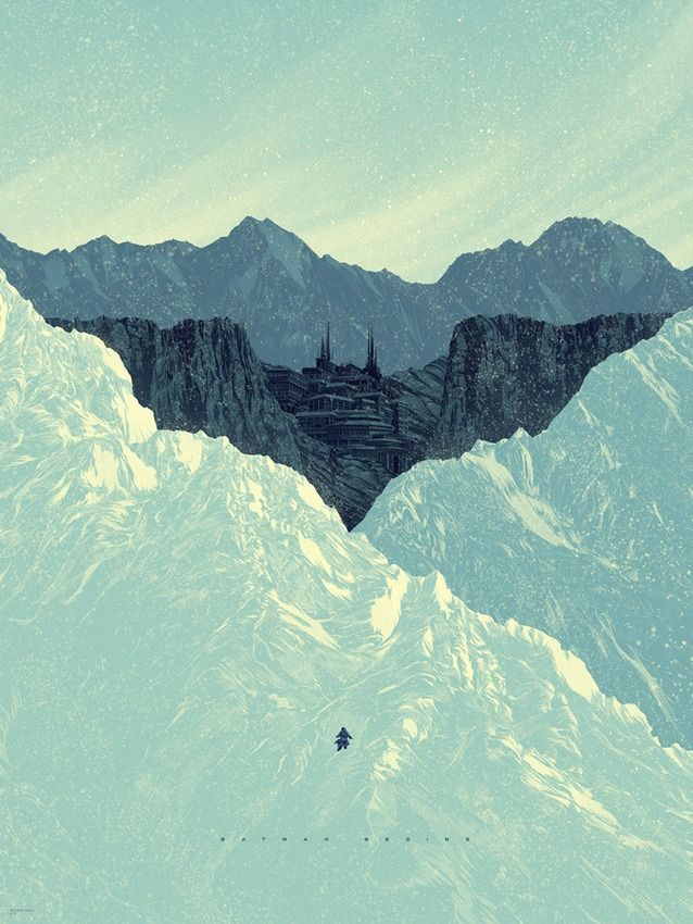 Batman 75th anniversary Mondo posters by Kevin Tong