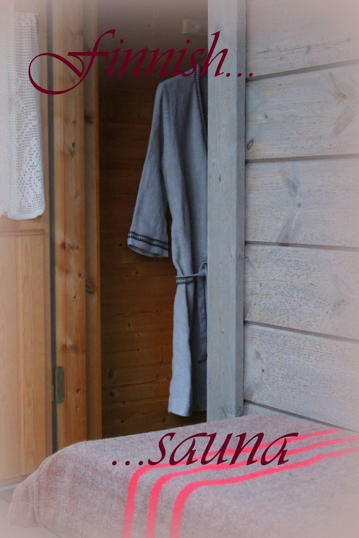 Wellcome to our sauna... natural materials will wellcome you...