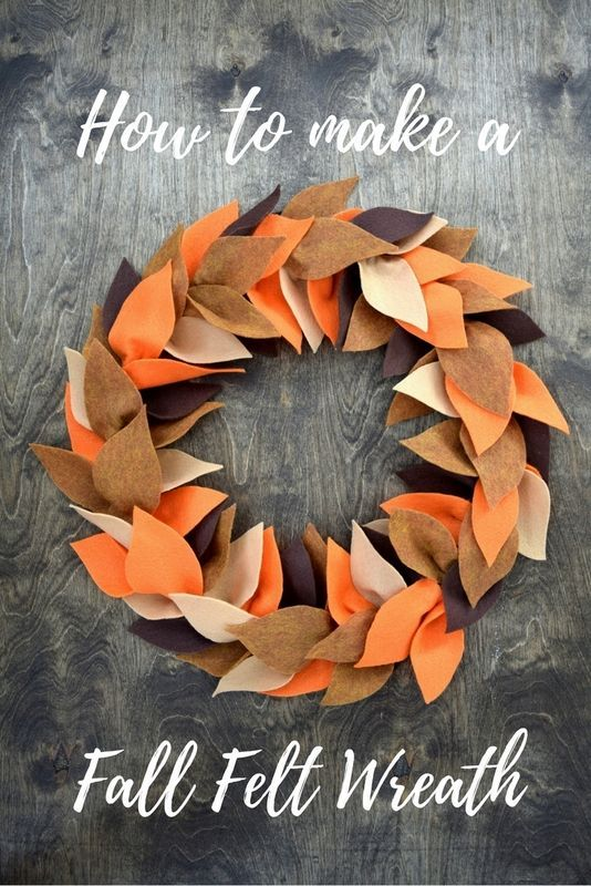 How to make a beautiful Fall wreath made from felt leaves and an embroidery hoop.