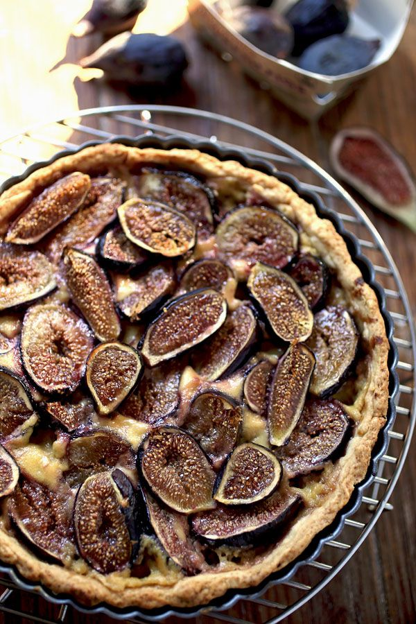 ... Кремом / Fresh Fig Tart with Orange Flower Custard