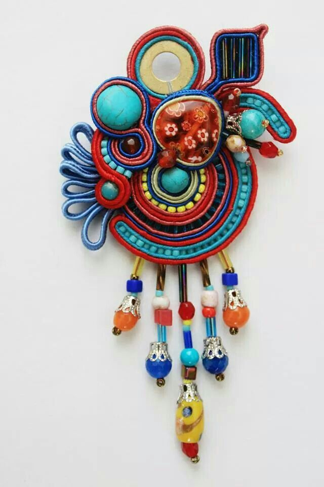 Soutache pendant/brooch