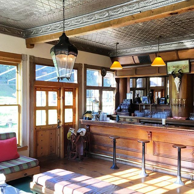 The saloon at Dunton Hot Springs, where the bar, which dates back to 1880, is…