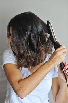 how to create beachy waves on short hair via @mystylevita