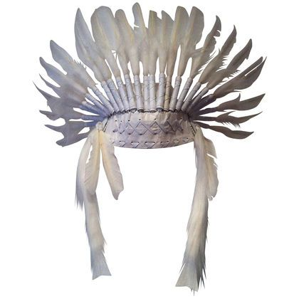 ADULT FEATHER HEADDRESS - WHITE