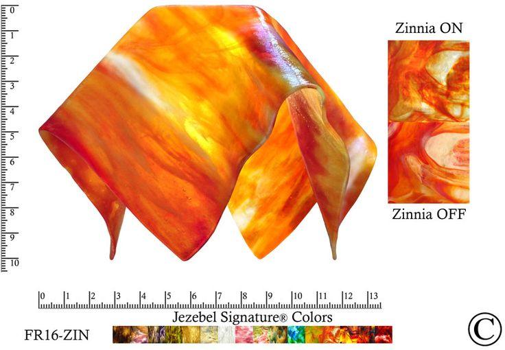"Jezebel Signature® Large Flame Zinnia Glass Pendant Replacement Glass Shade, 1 5/8"" hole"