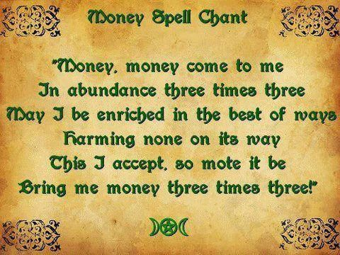 Easy Spells | Money Spell Chant