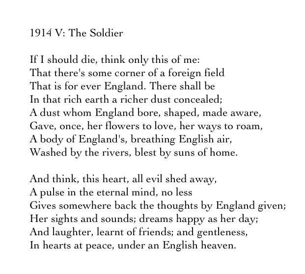 1914 poetry A new poem, inspired by ideas, images and lines written by young british footballers from the premier league under-12 teams during visits to the ypres battlefields in november 2014.