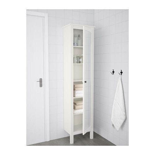 HEMNES Højskab med spejllåge - hvid - IKEA
