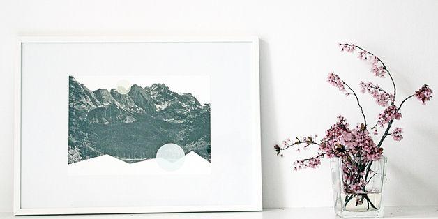 """Digitaldruck - ninotschka print """"Berg und Tal"""" colla... - ein Designerstück von nininotschka bei DaWanda"""
