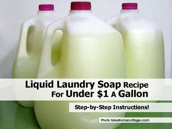 DIY Liquid Laundry Soap Recipe