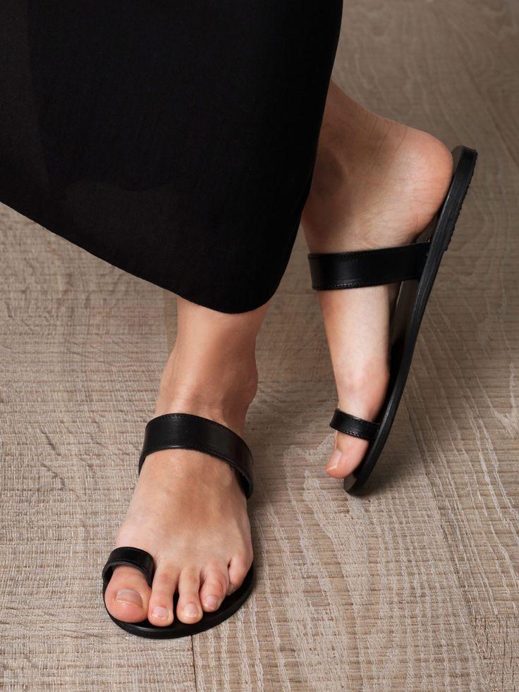 minimalist black sandals
