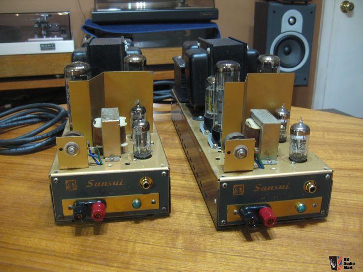 Rare vintage Sansui tube amplifiers Q-55