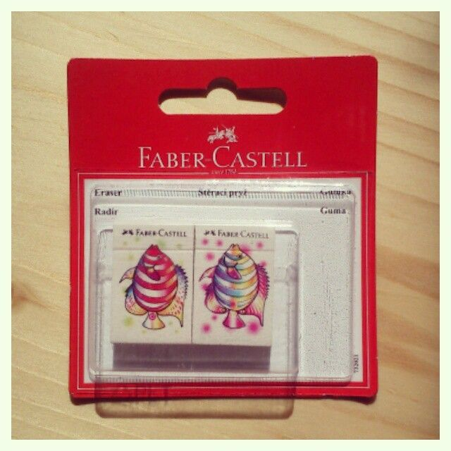 cute erasers by Faber Castell