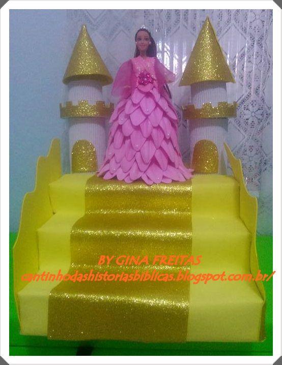 CANTINHO DAS HISTÓRIAS BÍBLICAS: A RAINHA ESTER E CASTELO.UMA RAINHA DIFERENTE