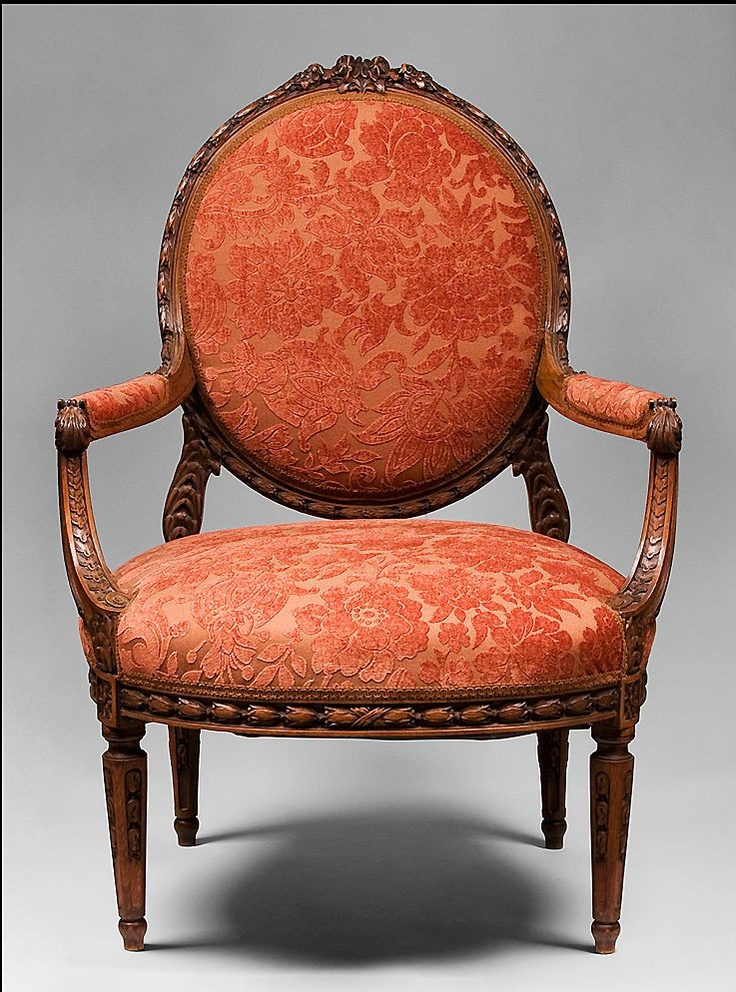 Louis XVI hand carved fautenuils: Xvi Armchairs, Louis Carvings Chairs, Hands Carvings, Louis Xvi, Carvings Fauteuil, Orange Chairs, St. Louis, Xvi Hands, Carvings Fautenuil
