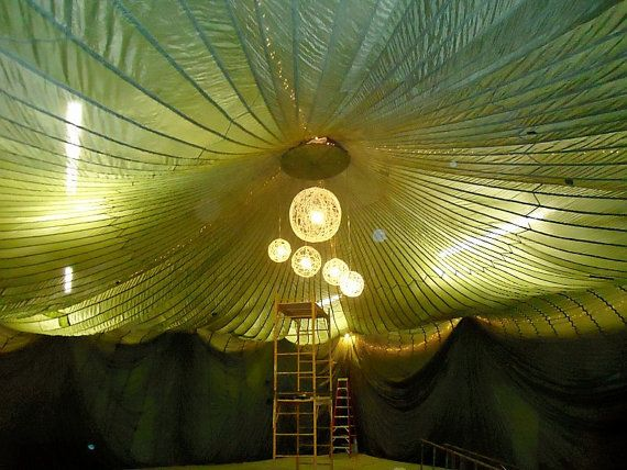 Vintage Military 100 Foot Parachute Tent Wedding or by TheLeisureSuit, $500.00
