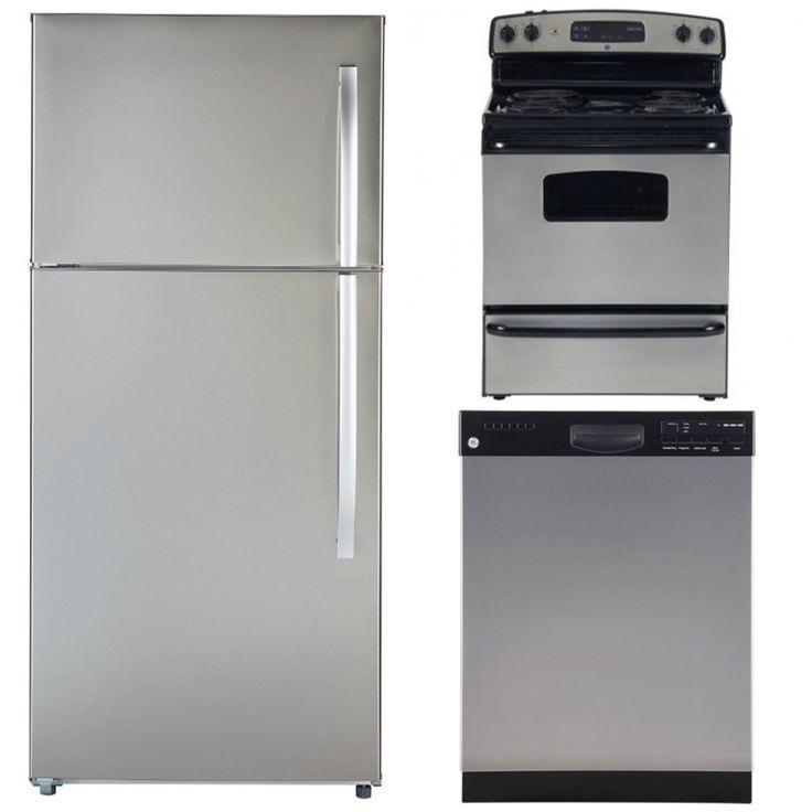 Electromenagers Longueuil Liquidation - Stainless Kitchen combo : 30'' Fridge, 30'' Stove and 24'' Dishwasher, GE & Moffat