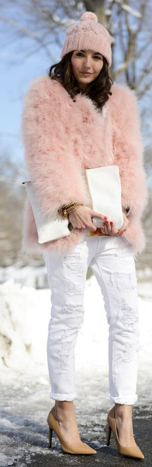 Pink MARABOU FEATHER Coat by Lovely Pepa