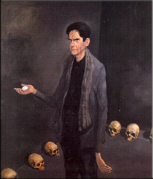 Michael Kvium painted Villy Sørensen