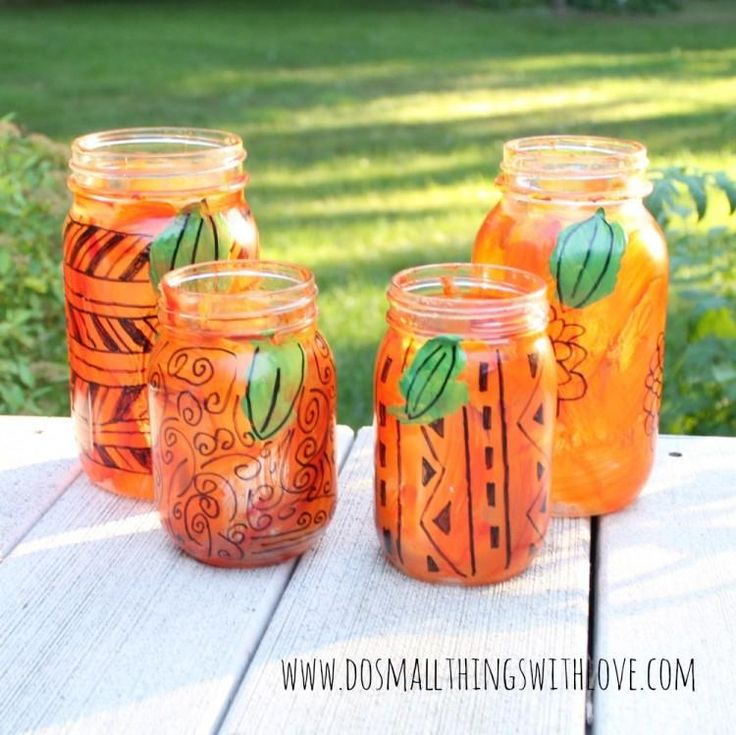 freestyle mason jar pumpkin lanterns 197 best