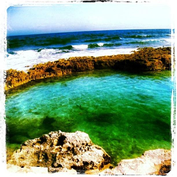 The amazing natural pool at Dreams Puerto Aventuras Resort & Spa