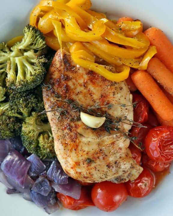 CHICKEN AND RAWY VEGETABLES INGREDIENTS Servings: 4 Vegetables: 1 medium-cooked …   – 24 day challenge dinner ideas