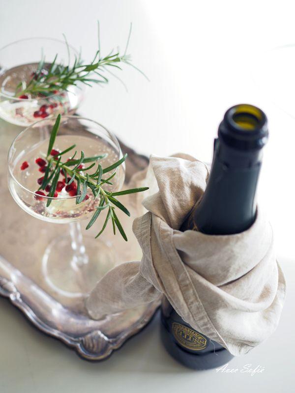 Granaattiomena-rosmariini-prosecco // Avec Sofié