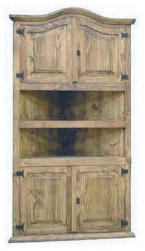 Large Corner Bookcase southwestern-china-cabinets-and-hutches
